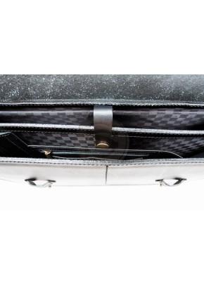 Кожаный портфель Apple черный