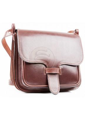 Кожаная сумка Дуэт коричневая