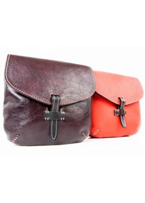 Кожаная сумка Пола красная