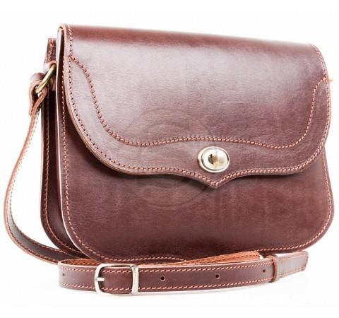 Кожаная сумка Виола темно-коричневая
