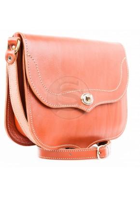 Кожаная сумка Виола рыжая