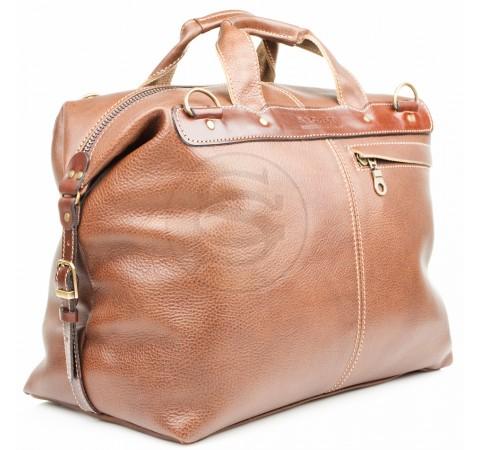 Кожаная дорожная сумка Модерн коричневая